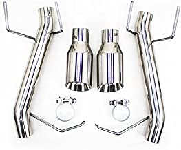 Rev9(CB-1024A) FlowMaxx Axle-Back Exhaust Kit, Stainless Steel, Free Flow Rumbler, compatible with Ford Mustang V6 2011-14