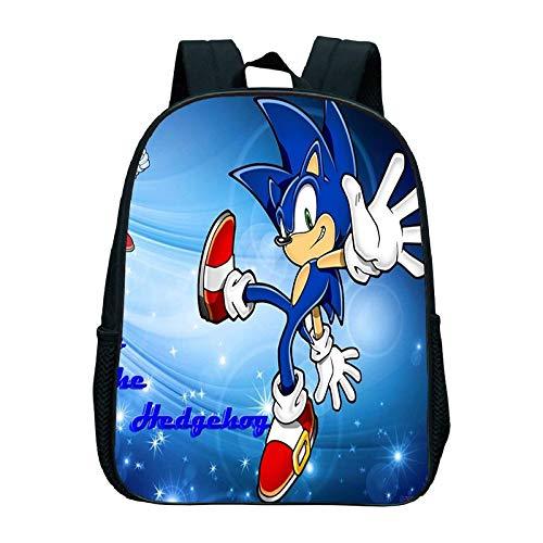 XINKANG Sonic The Hedgehog Sonic Kindergarten Bag Sonic Backpack Kids School Bag Children's Backpack Kids Backpacks Kids School Shoulders Bag