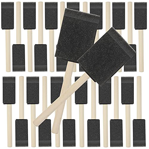 Yexixsr Foam Brush, 27 Pcs Sponge Paint Brush, Foam Paint Brushes, Foam Brushes for Painting, Sponge Brush for Staining, Foam Brushes for Polyurethane, Sponge Brushes for Painting