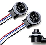 iJDMTOY 3156 3157 Wiring Harness Sockets Compatible With LED Bulbs, Turn Signal Lights, Brake Lights