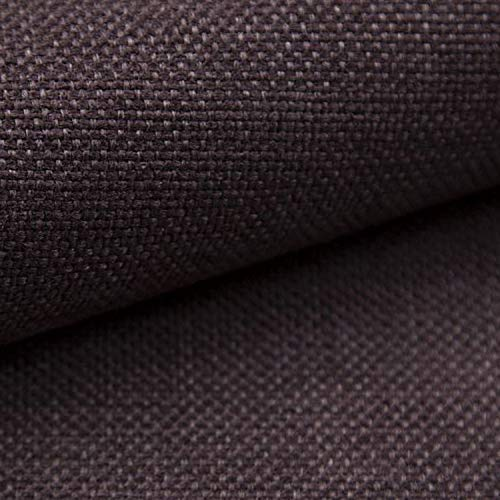 NOVELY® MUDAU | Polsterstoff | Meterware | Möbelstoff | Webstoff | Struktur-Stoff | Mélange | Grober Handwebcharakter | 26 Farben (06 Dunkelbraun)