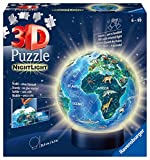 Ravensburger 3D Puzzle 11844 - Nachtlicht - Erde bei Nacht - 72 Teile