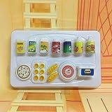 MAJGLGE 12pcs Dollhouse Miniature de Cuisine Nourriture Boissons Ensemble de gâteau de Pain pour poupée Barbie Jouet–Couleur aléatoire