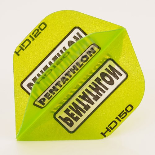 5 x Sets of Pentathlon GRÜN Super Tough HD150 Dart Flights, Standard
