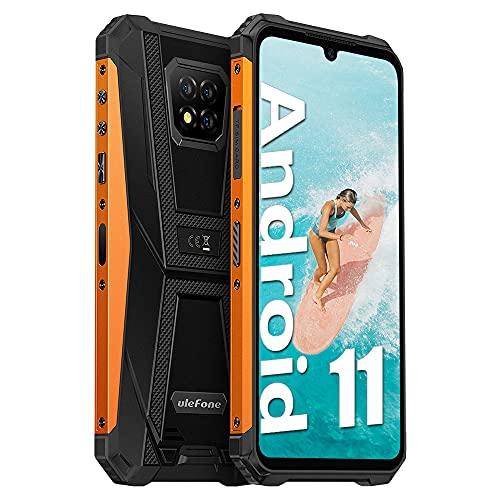 Teléfono resistente desbloqueado Ulefone Armor 8 Pro (6 GB+128 GB), Android 11 Helio P60 Octa-core resistente al agua, 13 MP, cámara trasera triple, pantalla HD+ de 6.1 pulgadas de pantalla de 5080 mAh batería dual SIM 4G teléfono móvil desbloqueado