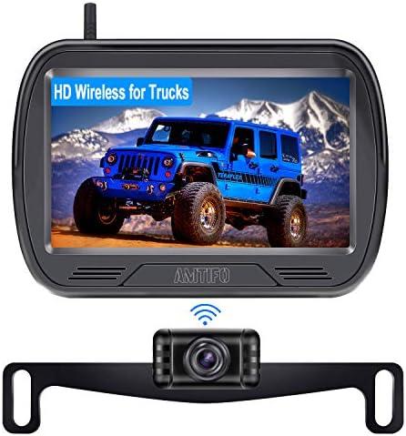 AMTIFO W3 HD Digital Wireless Backup Camera with Monitor Kit Hitch Rear View Camera for Trucks product image