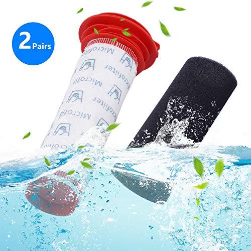 Waschbarer Schäume + Microsan Stick Filter für Bosch Athlet Akku-Staubsauger Ersatzteile, 2 Paar