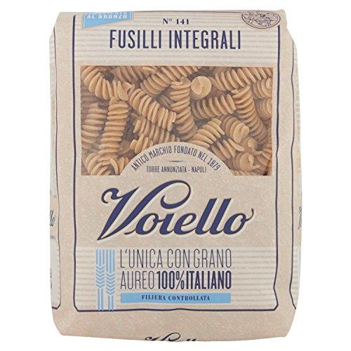 Voiello Pasta Fusilli Integrale, Pasta Corta di Semola Grano Aureo 100% - 500 gr