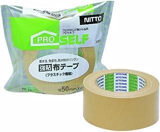 ニトムズ 強粘着 布テープ プラスチック繊維 PK‐24 50mm×25m J5360