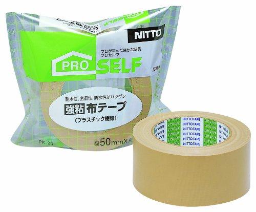 ニトムズ『プロセルフ 強粘布テープ PK24 プラスチック繊維』
