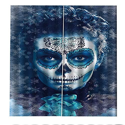 FACWAWF Patrón Impreso En 3D Cortinas De Halloween Sala De Estar Dormitorio Decoración Cortinas Balcón Sombreado, Insonorización, Protector Solar Y Cortinas Anti-Ultravioleta 2xW140xH245cm