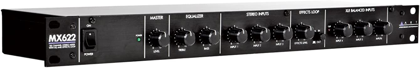ART MX622 6-Channel Mixer with Dual Stereo Outputs