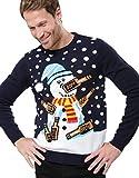 Der betrunkene Schneemann Weihnachtspullover