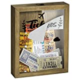 "TJ.MOREE Ticket Shadow Box 8"" x 10"" Top Loading Shadow Box Memento Frame with Slot, Customizable DIY Box Sweet Gift, Movie Travel Sporting Events Concert Ticket Stubs - Memory Box"