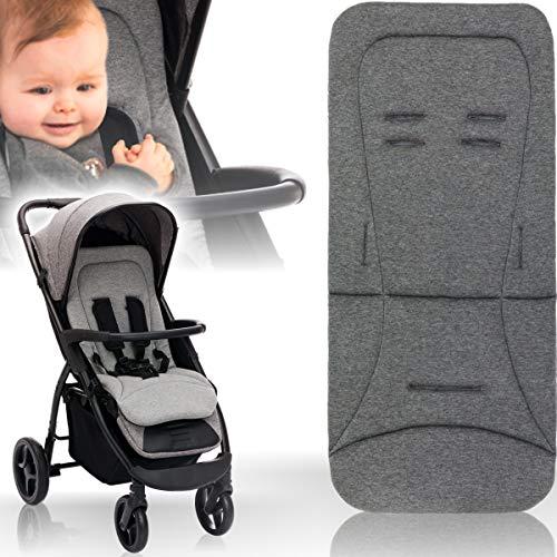 Baby/Kind Wende - Sitzauflage für Buggy und Kinderwagen/Einlage mir extra weichen Memoryschaum und Bezug aus 100{d3b46c878d8cf21b8c4065019cd912ee389c867f617e36e709fee68c10bcfb4c} Baumwolle (Grau Melange)