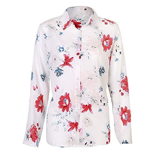 Top De Manga Larga Camisa De Solapa De Gran TamañO Camisa Informal Top Elegante Ropa De Trabajo Camisa De Gasa 5XL