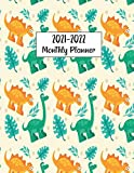 2021-2022 Monthly Planner: Dinosaur Planner Diary, Calendar, Notes, Contact Organizer, Agenda, 2 Year Monthly Planner, dinosaur gifts for women, girls, men, boys.