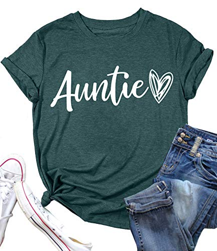 YI XIANG RAN Auntie Tank Tops for Women Cute Heart Graphic Tees Shirt Summer Casual Sleeveless Muscle Tanks Vest (Green-1, XX-Large)…