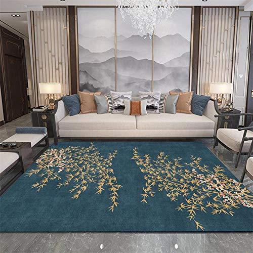 Moderno Alfombra Salón Gran Tamaño Dormitorio Moqueta Fondo Azul de bambú Amarillo...