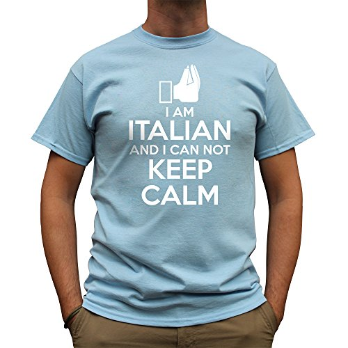 Nutees Men's I Am Italian And I Can Not Keep Calm Funny T Shirt Irish Green