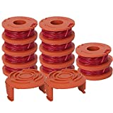 WA0010 Spool, WA0010 Replacement Trimmer Spool for Worx Grass Trimmer Spool Line .065' 10ft - for Worx WG180 WG163 Weed Wacker Eater String with WA6531 GT Spool Cover 50006531 by BOOTOP