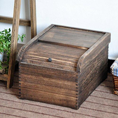 LTQ&QING Holzfässern aus massivem Holz verkohlten Holz Reis Box Feuchtraum Pest Control Frisch Reis Barrels, 42 * 33 * 26cm