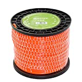Turfson 3-Pound Commercial Square .155-Inch-by-280-ft String Trimmer Line in Spool, Orange