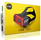 Premium Virtual Reality VR Headset w/Magnetic Button Trigger by Sytros, Lightweight VR Goggles Glasses for Apple iPhone Android & Samsung Smartphones