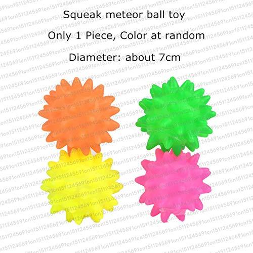 babyzhang Gummi Quietschspielzeug für Hund Screaming Chicken Chew Bone Slipper Quietschball Hundespielzeug Zahnknirschen & Training Heimtierbedarf, Metero Ball Hundespielzeug