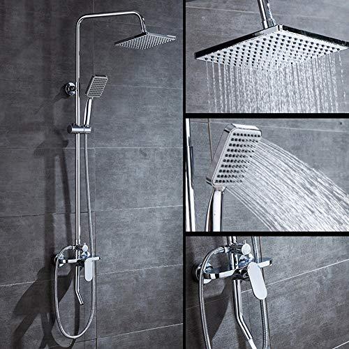 WHCCL Douchesysteem met 3 snelheden voor waterbesparing, geschikt voor badkamer, badkamer, douche, douche