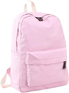 solid pink backpack
