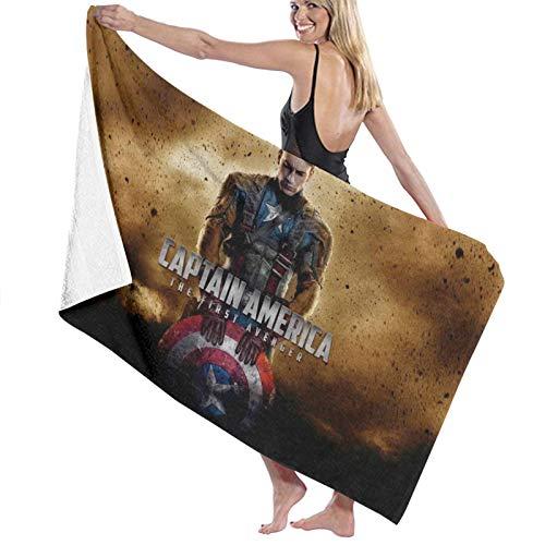 Cap-Tain Ameri_Ca - Toalla de playa para hombre y mujer, de microfibra de gran tamaño, toalla de baño de secado rápido para viajar, nadar o acampar