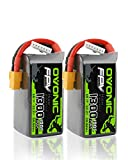 2 Packs Ovonic 14.8V 1300mAh 100C 4S LiPo Battery Pack with XT60 Plug for FPV Racing RC Quadcopter Helicopter Airplane Multi-Motor Hobby DIY Parts