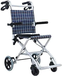 Wheelchair Ultra Lightweight Transport Chair Aerospace Aluminum Travel Wheelchair, Driving Medical Elderly, Disabled, Rehabilitation Patient Nursing Cart