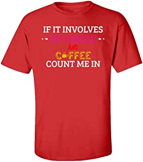 Funny Starfish - If It Involves Coffee Count Me in - Fish Sealife Animal - Kids T-Shirt