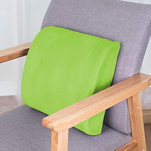 MRBJC Cojín de espuma viscoelástica para interiores y exteriores, para silla de jardín, sofá de mascotas, felpa, decoración de hogar, oficina, verde, 32 x 31 x 10 cm