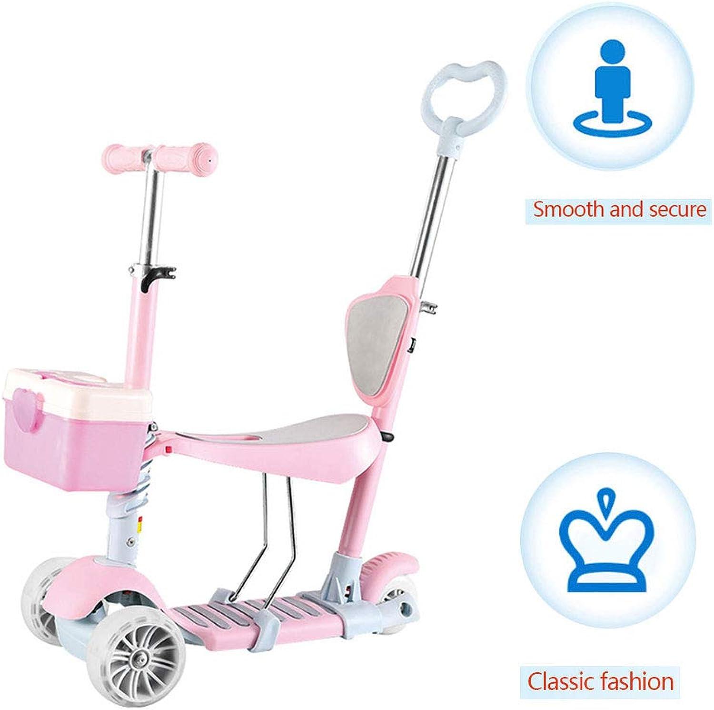 YLCQ 5-In-1-Kinderroller, Gehhilfe, Push-Twist-Rutsche, Kinderschaukel, Handbremse