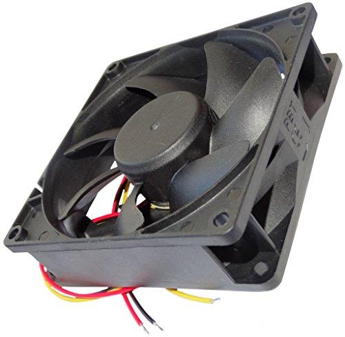 AERZETIX: Ventilador para Caja de Ordenador PC 24V 92x92x25mm 87,55m3/h 34dBA 3000rpm 2.1W 0.087A con Bolas 3 Cables 24AWG C14562