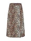 Dorothy Perkins Animal Midi Skirt Falda, Marrón (Brown 160), 46 (Talla del Fabricante: 18) para Mujer