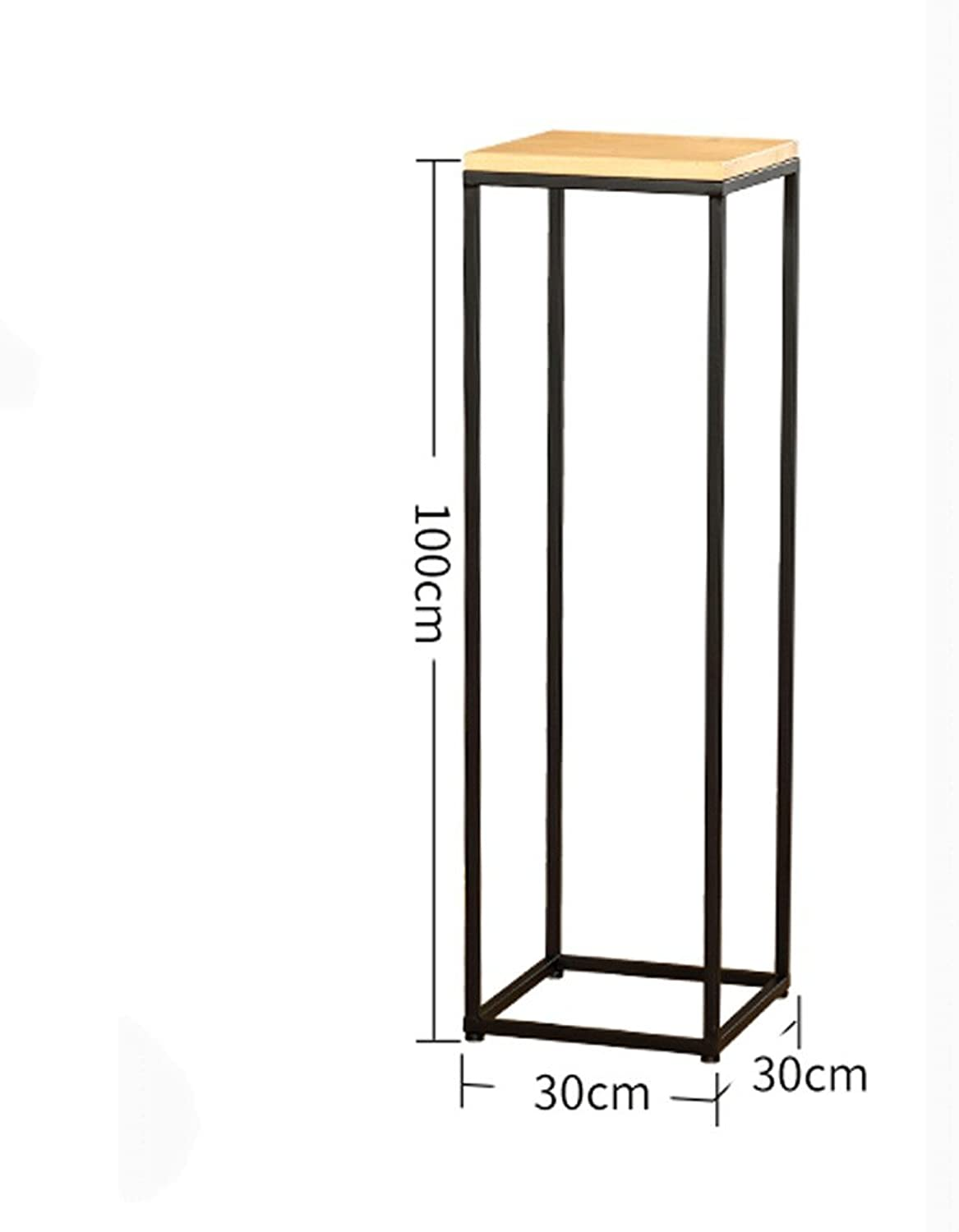 Qing MEI Simple Modern Wrought Iron Solid Wood Floor Flower Pot Pot Rack Living Room Balcony Green Flower Stand Ladder Multi-Layer Flower Stand A++ (color   C)