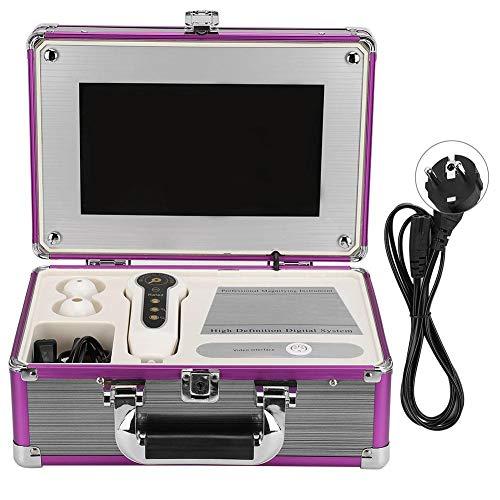 Analizador del detector del cuero cabelludo capilar, microscopio profesional para la piel, máquina de prueba de la piel del tipo de carga de 10.1 pulgadas para el cuidado de la piel, 100-240V(UE)
