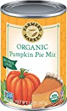 Farmer's Market Foods Canned Organic Pumpkin Pie Filling Puree Mix, 15-Ounce (Pack of 12)