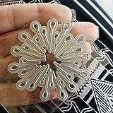 Fustelle in metallo per fai da te, scrapbook, decorazioni a forma di fiore