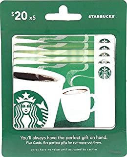 Starbucks Gift Cards, Multipack of 5
