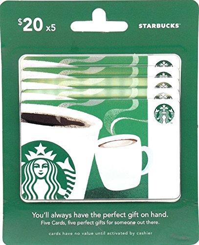 Starbucks Gift Cards, Multipack of 5 - $20