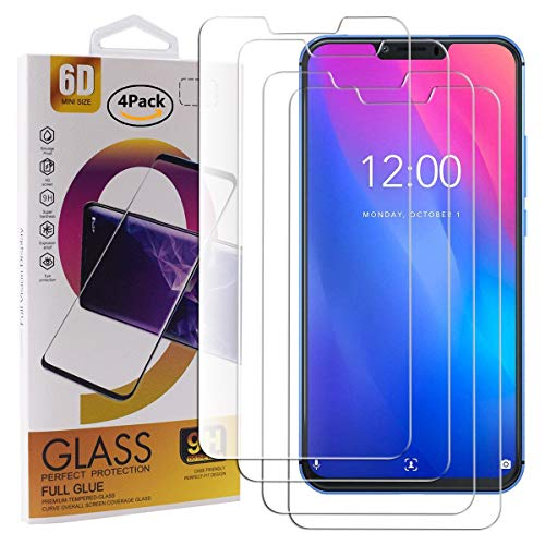 Guran 4 Paquete Cristal Templado Protector de Pantalla para Vernee M8 Pro (2019) Smartphone 9H Dureza Anti-Ara?azos Alta Definicion Transparente Película