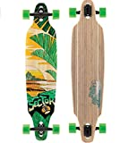 Sector 9 Lookout Complete 41 Inch Bamboo Drop Through Longboard for Carving and Commuting
