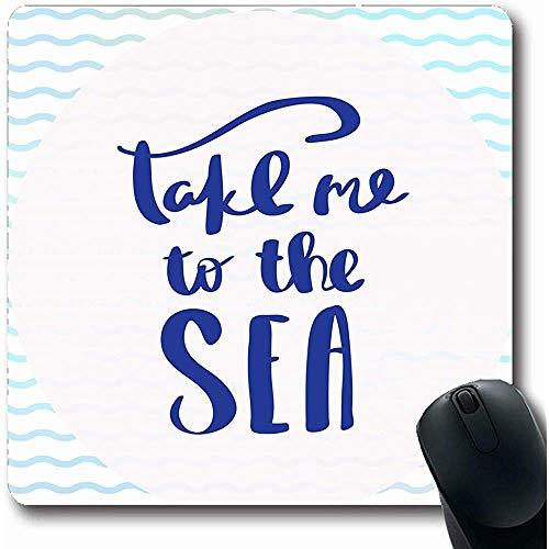 Mousepad Satz Zusammenfassung Nehmen Sie Mich Sea Beach Black Brush Schreibschrift Cursive Design Typografische Mousepad Laptop Büro Computer Notebook Gummi Mauspad 25X30Cm Rutschfest Länglich