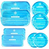 Tutmyrea Gel Ice Packs for Injuries Reusable, Flexible Hot and Cold Packs in 4 Size, Cold Compress, Soft Ice Packs Bundle for Kids Boo Boo, Cold Packs for Injuries, Breastfeeding, Wisdom Teeth, 8 Pack