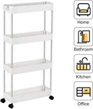 55*30*150cm White YOOKEA Storage Shelves 5 Tier Steel Wire Shelving Unit Standing Shelf Units with Adjustable Height Steel Wire Shelves with 4 Hooks Ideal for Kitchens Offices Stockrooms Retail Shop